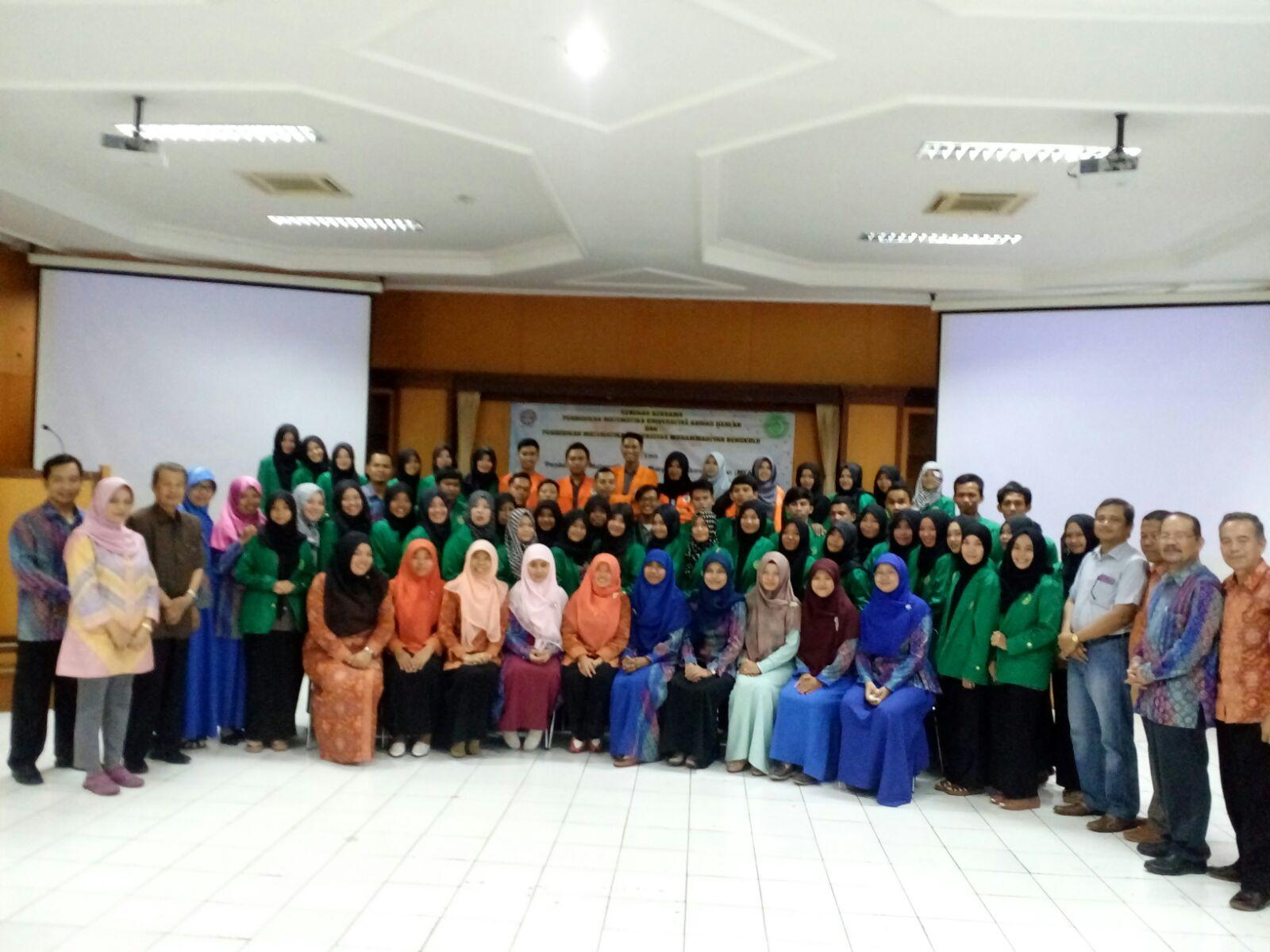 Pendidikan Matematika UAD pada hari Sabtu, 30 Januari 2016 kedatangan rombongan dosen dan mahasiswa Pendidikan Matematika dari Universitas Muhammadiyah Bengkulu. Kunjungan dilakukan dalam rangka 'Outdoor Mathematics' sebagai bagian dari mata […]